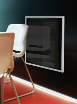 infrarotheizung fenix ecosun e 600 g schwarz 120x60x3cm. Black Bedroom Furniture Sets. Home Design Ideas