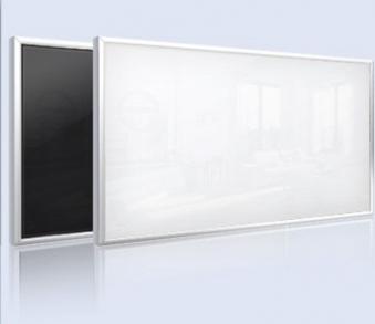 infrarotheizung glas heizk rper ar10 wei 600w 110x60cm bei. Black Bedroom Furniture Sets. Home Design Ideas