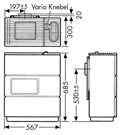Ölofen Wamsler OS 4/5 Vario hellbraun/dunkelbraun Bild 2