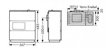 Ölofen Wamsler OS 4/5 Vario kaschmir/schwarz Bild 2
