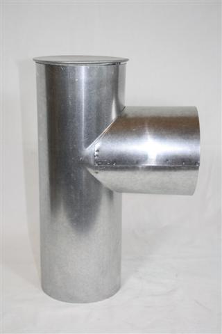 Ofenrohr Kapselknie FAL Ø100mm Bild 1