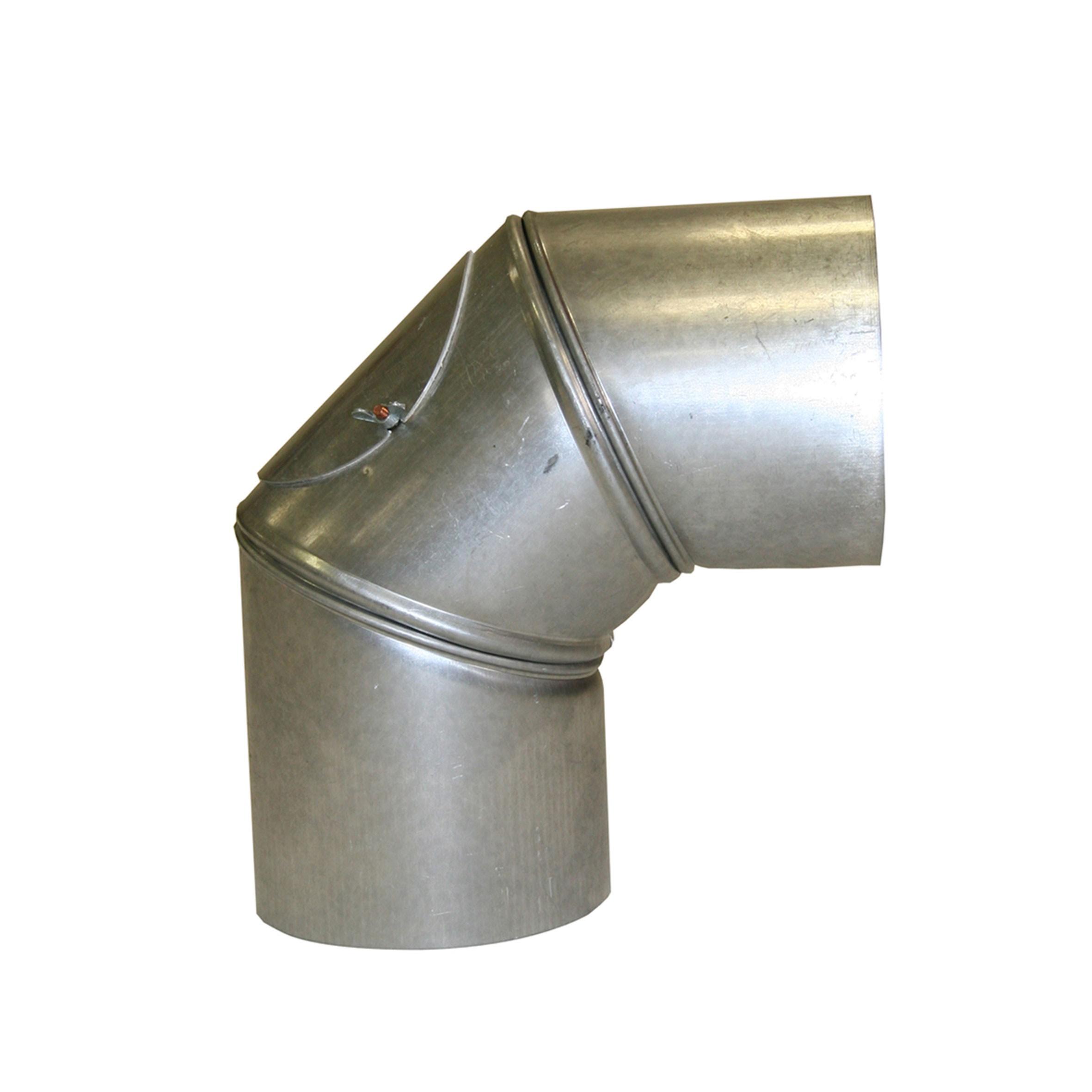 Ofenrohr / Rauchrohr KaminoFlam FAL Bogenknie 90° Ø100mm 3tlg. mit Tür Bild 1