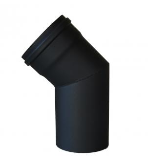 Bogenknie 45° für Pelletofen Senotherm 0,8mm schwarz Ø100mm ohne Tür Bild 2