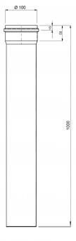 Ofenrohr für Pelletofen Senotherm 0,8mm schwarz Ø100mm Länge 1000mm Bild 1