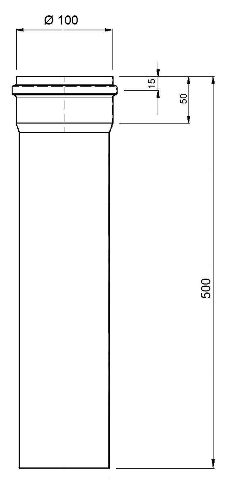 Ofenrohr für Pelletofen Senotherm 0,8mm schwarz Ø100mm Länge 500mm Bild 1