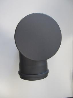 T-Stück für Pelletofen Senotherm 0,8mm grau Ø100mm gemufft Länge 250mm Bild 2