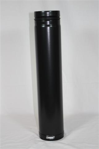 Ofenrohr / Rauchrohr für Pelletofen Ø100mm Länge 750mm verstellbar Bild 1