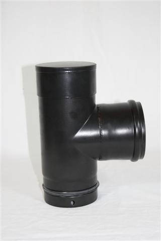 Ofenrohr / Rauchrohr für Pelletofen Kapselknie Ø100mm Länge 250mm Bild 1
