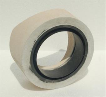 Anschlußteil mit Doppelwandfutter für runde Schornsteine Ø 120 mm Bild 1