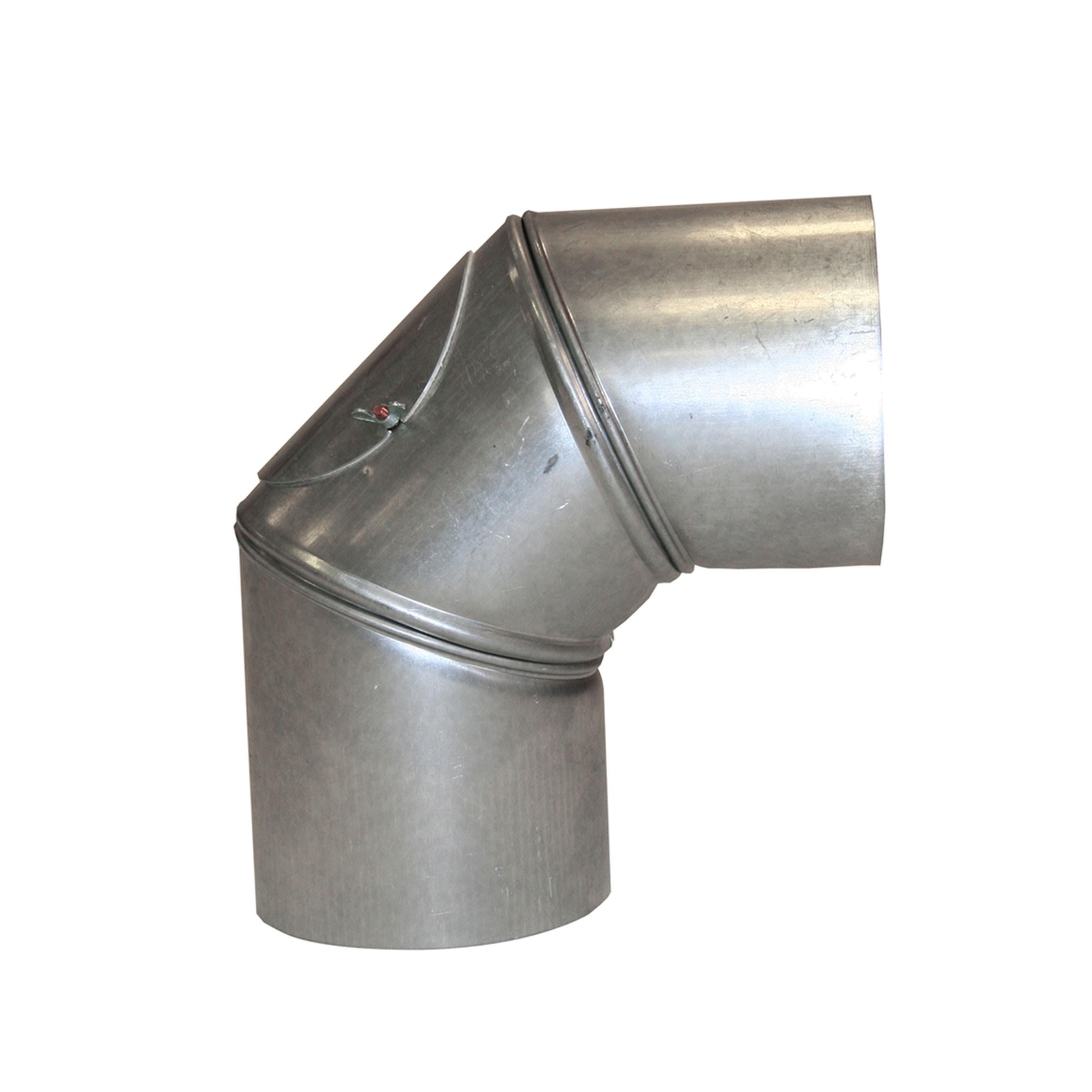 Ofenrohr / Rauchrohr KaminoFlam FAL Bogeknie 90° Ø120mm 3tlg. mit Tür Bild 1