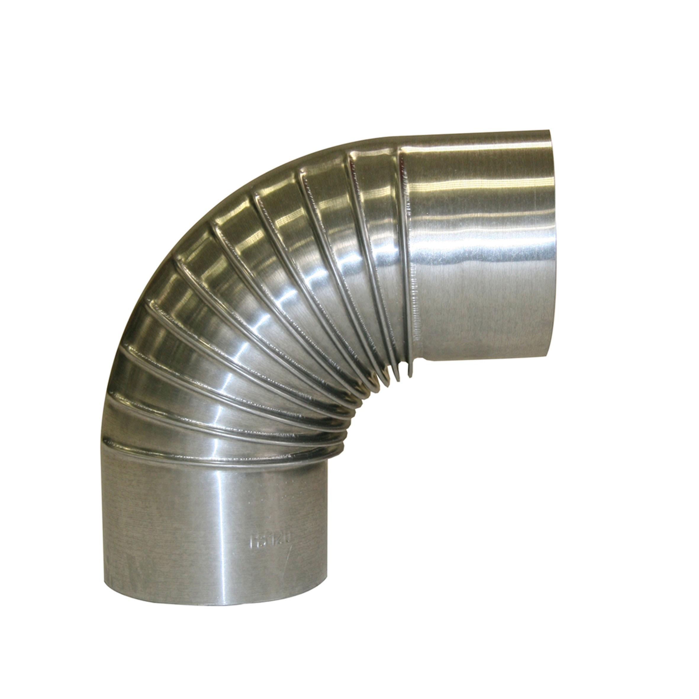 Ofenrohr / Rauchrohr KaminoFlam FAL Bogenknie 90° Ø120mm ohne Tür Bild 1