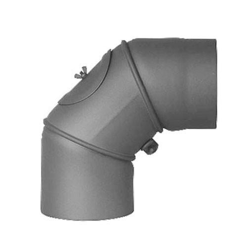 Ofenrohr Bogenknie 3tlg verstellbar 0-90° Ø120mm Senoth. grau m.T. Bild 2