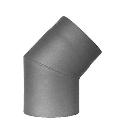Ofenrohr / Rauchrohr Bogenknie 45° Ø120mm Senotherm grau ohne Tür Bild 2