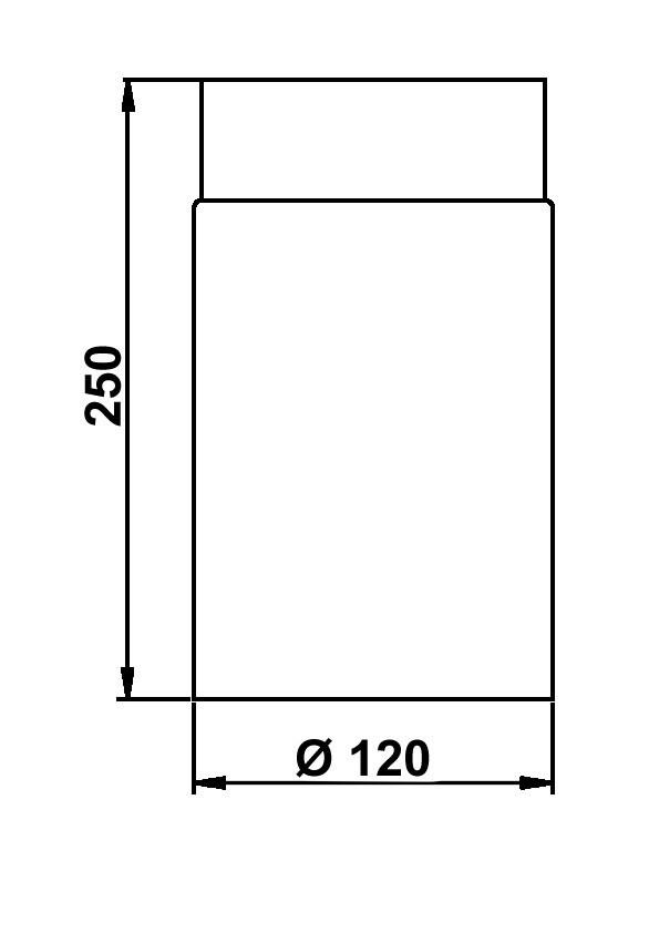 Ofenrohr / Rauchrohr Senotherm grau Ø120mm Länge 250 mm Bild 1