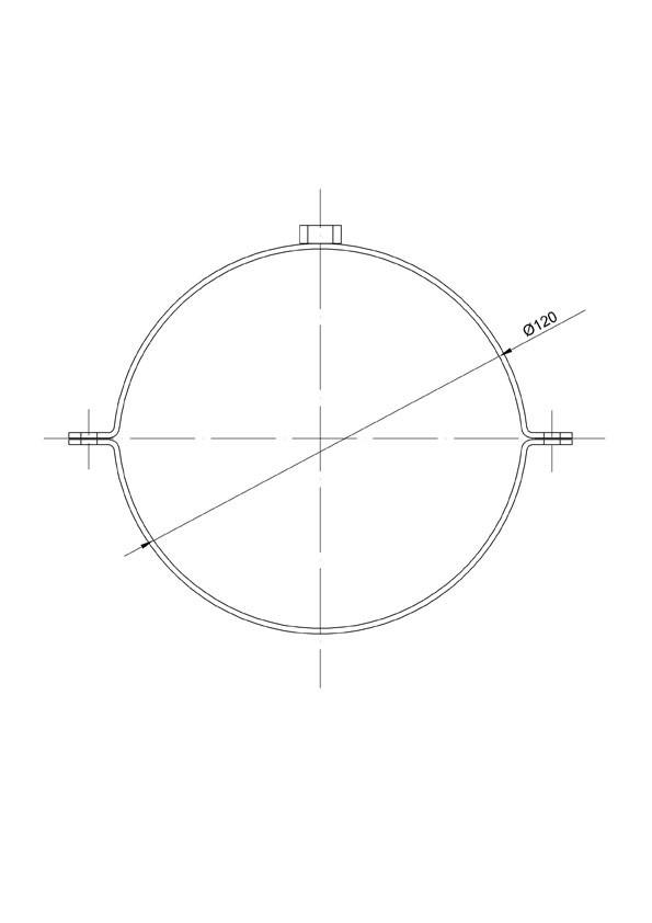 Rohrschellen Set Ø120mm Senotherm grau für Ofenrohre Bild 2