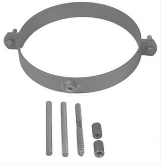 Rohrschellen Set Ø120mm Senotherm grau für Ofenrohre Bild 1