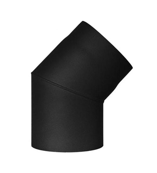 Ofenrohr / Rauchrohr Bogenknie 45° Ø120mm Senotherm schwarz ohne Tür Bild 2
