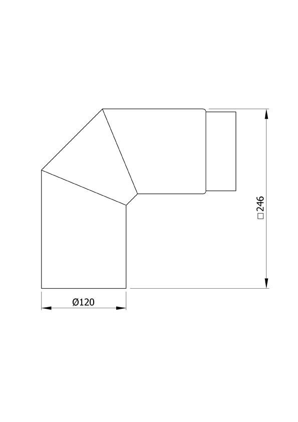 Ofenrohr / Rauchrohr Uni-Bogenknie 90° Ø120mm Senotherm schwarz o. T. Bild 1