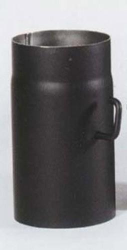 ofenrohr mit drosselklappe senotherm schwarz 120 mm l nge 250 mm bei. Black Bedroom Furniture Sets. Home Design Ideas