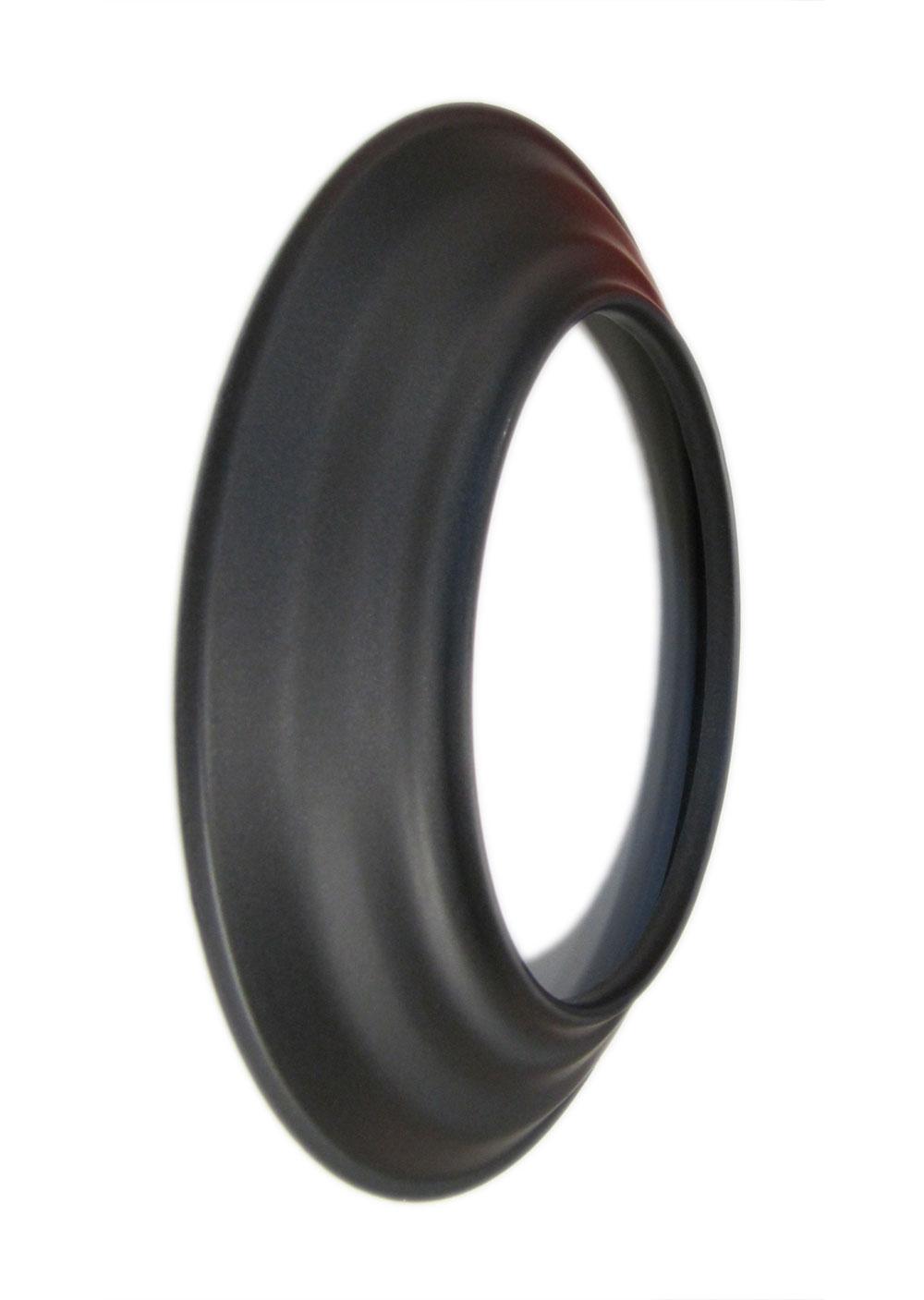 Rauchrohr-Rosette schwarz Ø 120 mm Bild 2