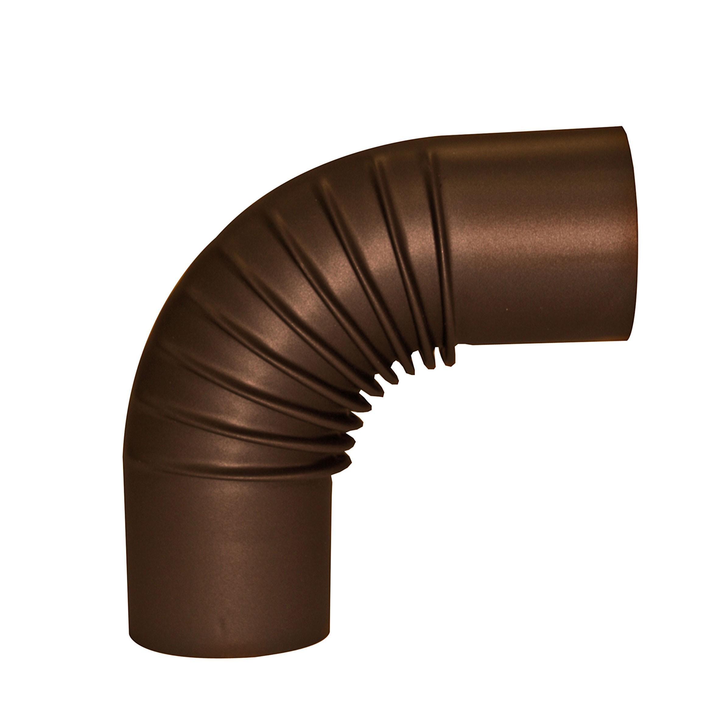 Ofenrohr / Rauchrohr KaminoFlam Bogenknie emailiert 90° Ø120 mm braun Bild 1