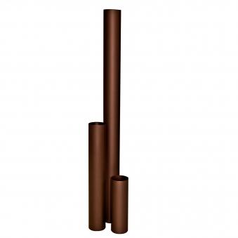 Ofenrohr / Rauchrohr KaminoFlam emailliert Ø 120 mm Länge 250 mm braun Bild 1