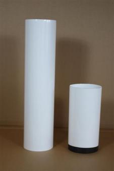 Ofenrohr / Rauchrohr emailliert Ø120mm Länge 750mm weiß Bild 1