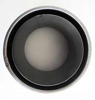 Wandfutter doppelwandig schwer Stahl Ø120mm Bild 1