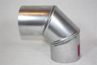 Ofenrohr / Rauchrohr FAL Bogenknie 90° Ø 130mm 3 tlg. ohne Tür Bild 1