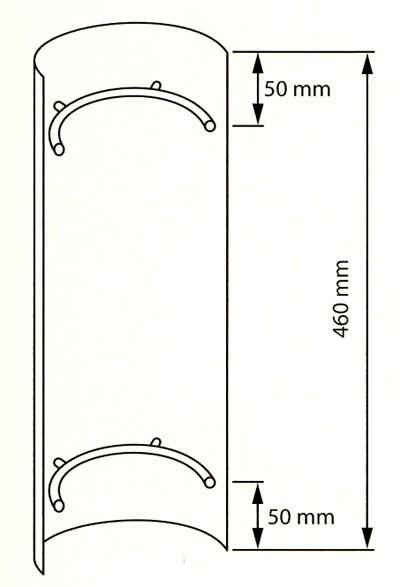 Hitzeschutz Rohrblende Senotherm grau Ø130mm Bild 2