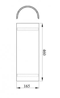 Hitzeschutz Rohrblende Senotherm grau Ø130mm Bild 1