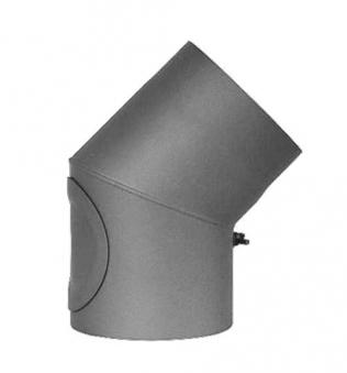 Ofenrohr / Rauchrohr Bogenknie 45° Ø130mm Senotherm grau mit Tür Bild 2