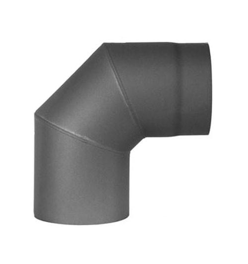 Ofenrohr / Rauchrohr Bogenknie 90° Ø130mm Senotherm grau ohne Tür Bild 2