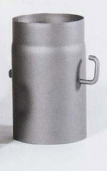 Ofenrohr mit Drosselklappe Senotherm grau Ø130mm Länge 250 mm Bild 2