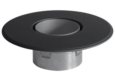 Doppelwandfutter mit Krallen und 90mm Rosette Ø130mm schwarz Bild 1