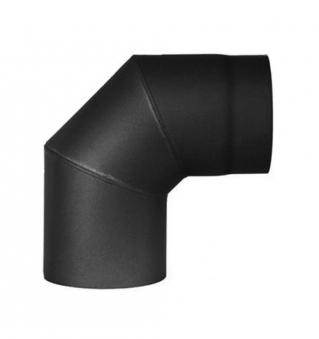 Ofenrohr / Rauchrohr Bogenknie 90° Ø130mm Senotherm schwarz ohne Tür Bild 2