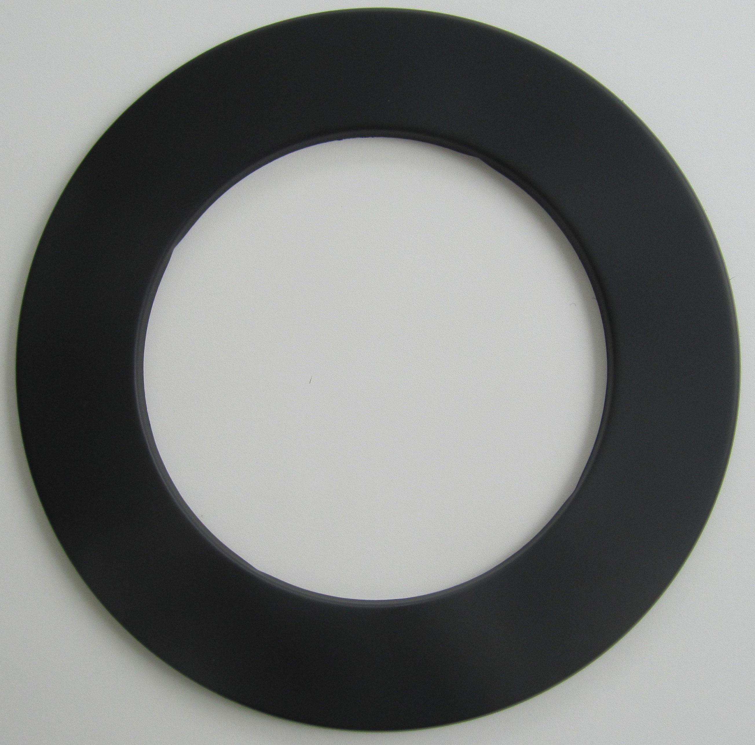Rauchrohr-Rosette schwarz Ø 130 mm Bild 1