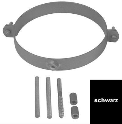 Rohrschellen Set Ø130mm Senotherm schwarz für Ofenrohre Bild 1