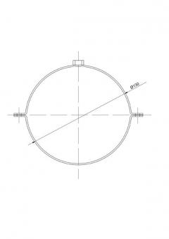 Rohrschellen Set Ø130mm Senotherm schwarz für Ofenrohre Bild 2