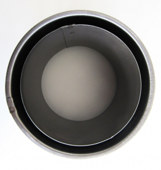 Wandfutter doppelwandig schwer Stahl Ø130mm Bild 1