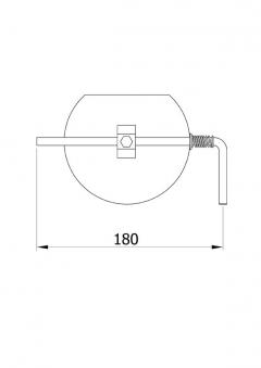 Drosselklappe stahlblank 150 mm Bild 1