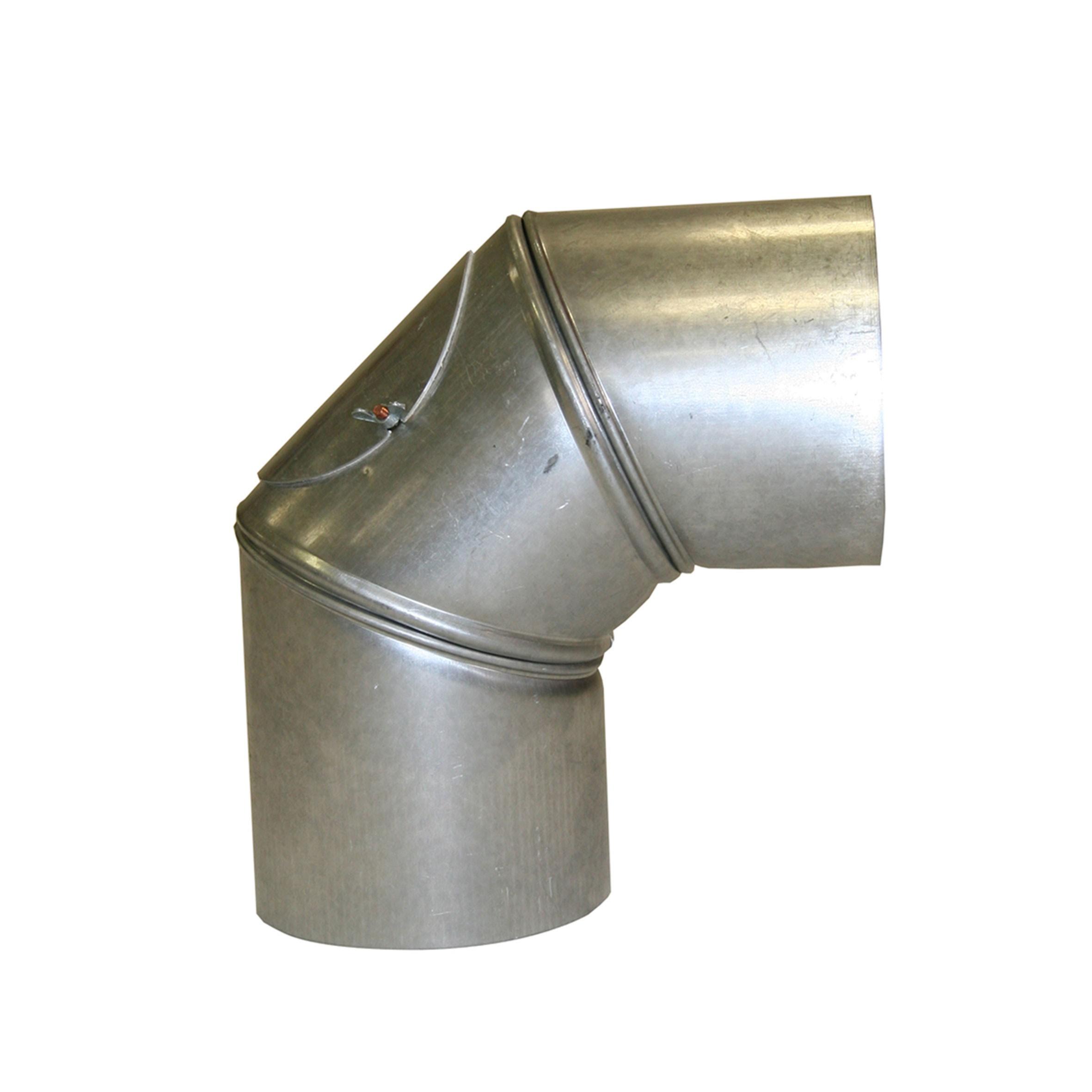 Ofenrohr / Rauchrohr KaminoFlam FAL Bogenknie 90° Ø150mm 3tlg. mit Tür Bild 1