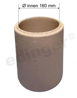 Schamotterohr Ø160mm für Ofenrohr Ø150mm Bild 1