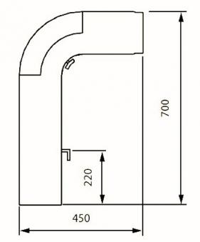 Ofenrohr / Rauchrohr - Set Fullform Ø150mm Senotherm grau Bild 1