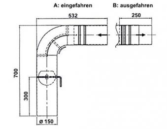 Ofenrohr / Rauchrohr - Set Fullform Schieberohr Ø150mm Senotherm grau Bild 1
