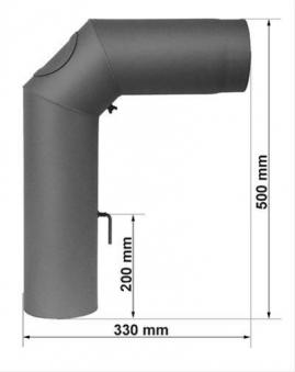 Ofenrohr / Rauchrohr Set II Standard Ø150mm Senotherm gussgrau Bild 1