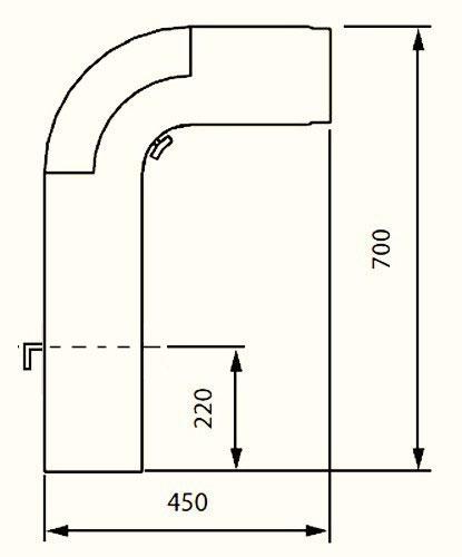 Ofenrohr / Rauchrohr - Set Fullform Ø150mm Senotherm schwarz Bild 1