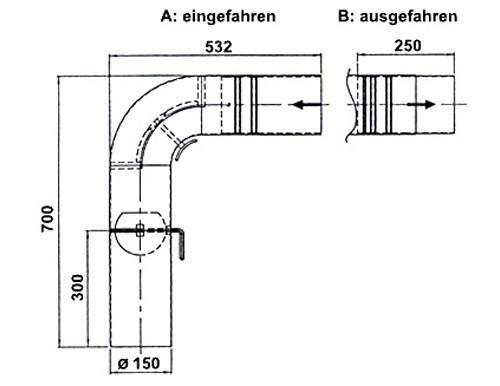 Ofenrohr / Rauchrohr Set1 Fullform Schieberohr Ø150mm Senoth. schwarz Bild 1