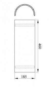 Hitzeschutz-Rohrblende gussgrau 46cm Bild 1