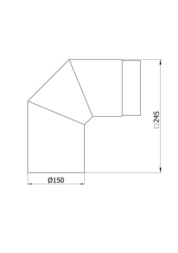 Ofenrohr / Rauchrohr Bogenknie 90° Ø150mm Senotherm gussgrau ohne Tür Bild 1